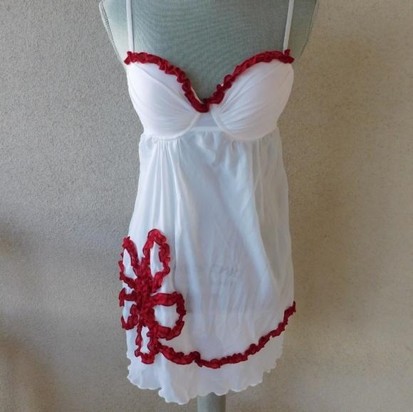 La Vie en Rose Other - White mesh babydoll lingerie by La Vie en Rose 5d9d48d58